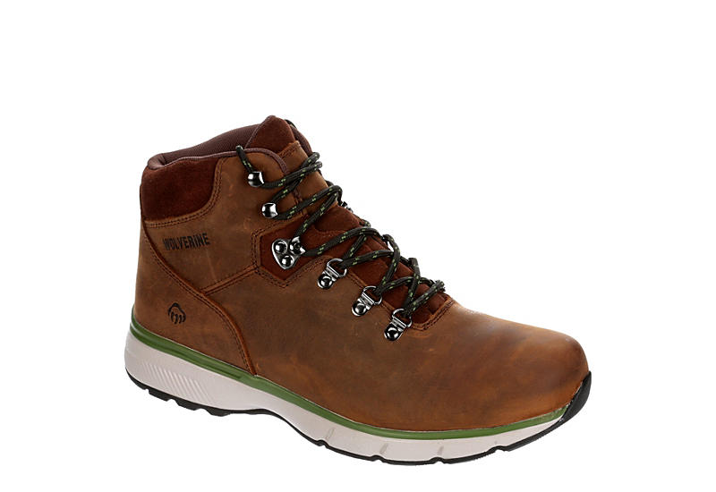 WOLVERINE Mens Bodi Waterproof Hiking Boot - DARK BROWN
