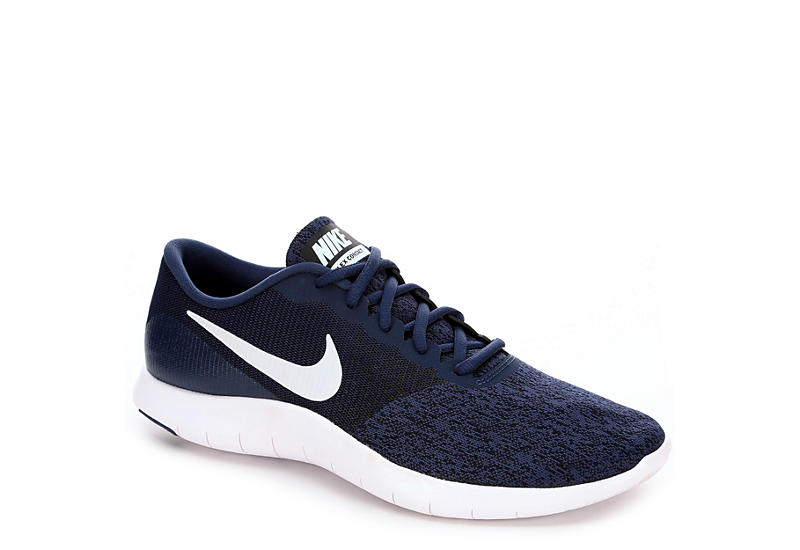 Navy Nike Mens Flex Contact Running Shoe Athletic Off Broadway Shoes