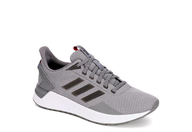 grey adidas mens questar passaggio scarpa da corsa atletica off - broadway