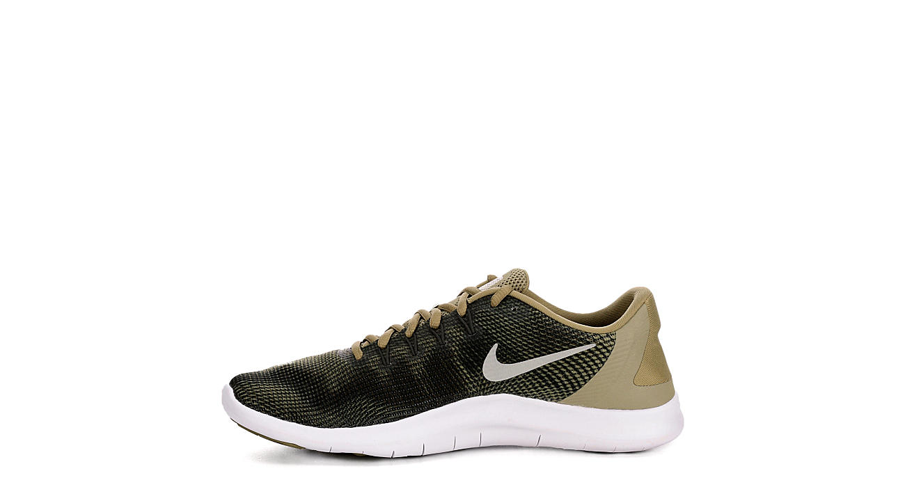 NIKE Mens Flex Run 2018 Running Shoe - OLIVE