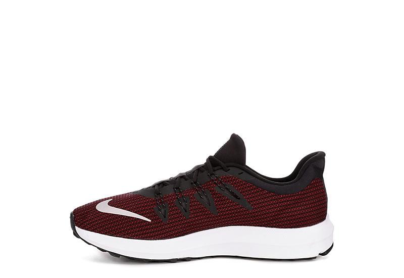 NIKE Mens Run Quest Running Shoe - BLACK