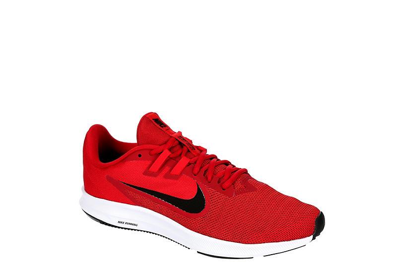 RED NIKE Mens Downshifter 9 Running Shoe