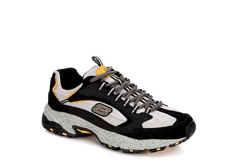 GREY SKECHERS Mens Stamina Cutback Sneaker
