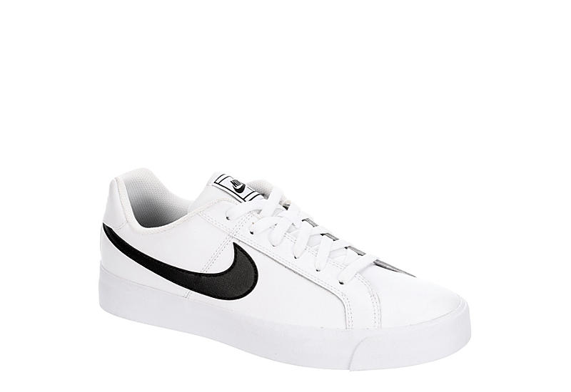 WHITE NIKE Mens Court Royale Ac Sneaker