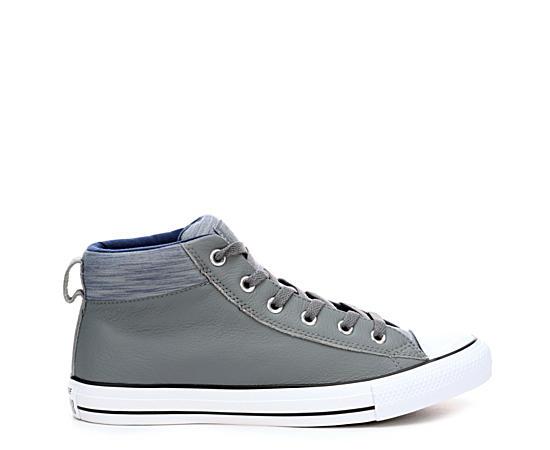Mens Chuck Taylor All Star Street Hi Lthr Sneaker