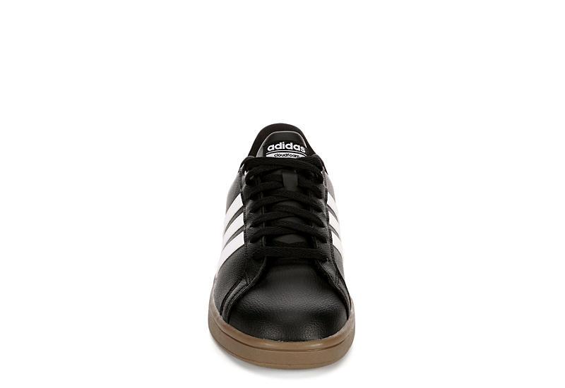ADIDAS Mens Advantage Stripe Sneaker - BLACK