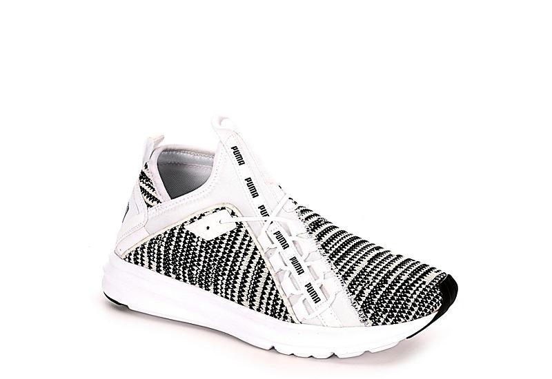 3c17424bf Puma Mens Enzo Peak Mid Sneaker - White