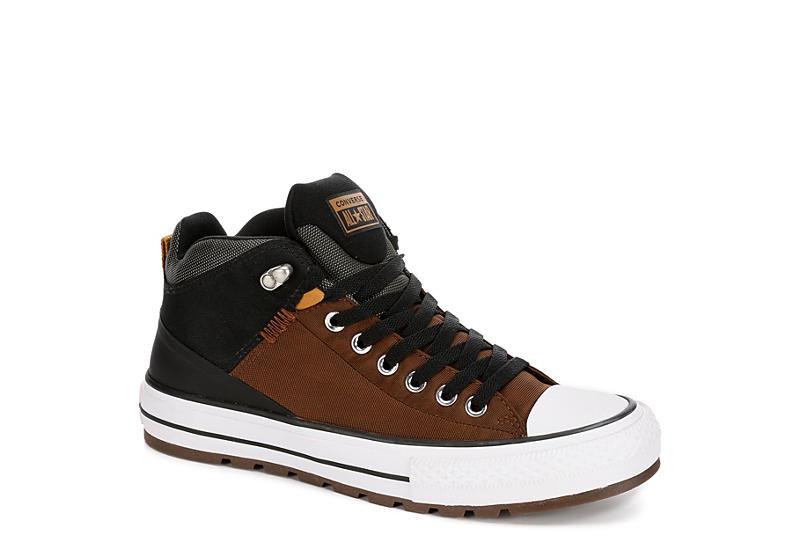 0b4fc55dbb52ea Brown Converse Mens Chuck Taylor All Star Street Boot Sneaker ...