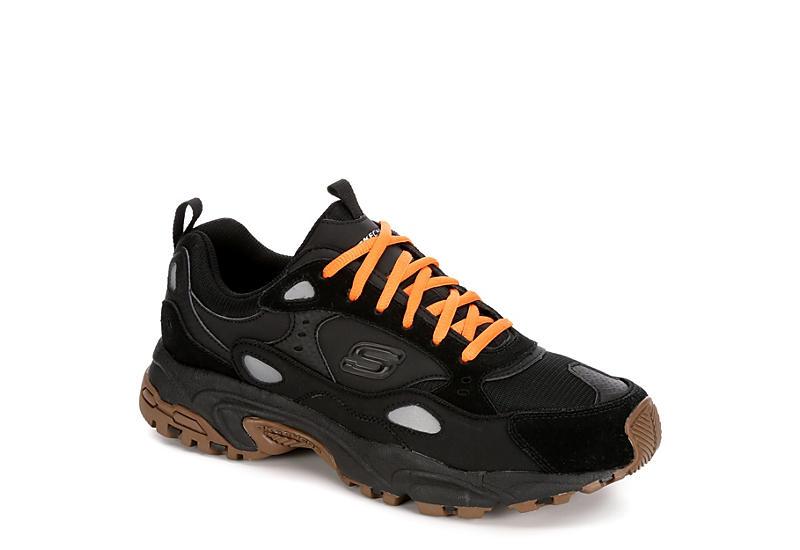 6813b9c38325 Skechers Mens Stamina Contic Sneaker - Black