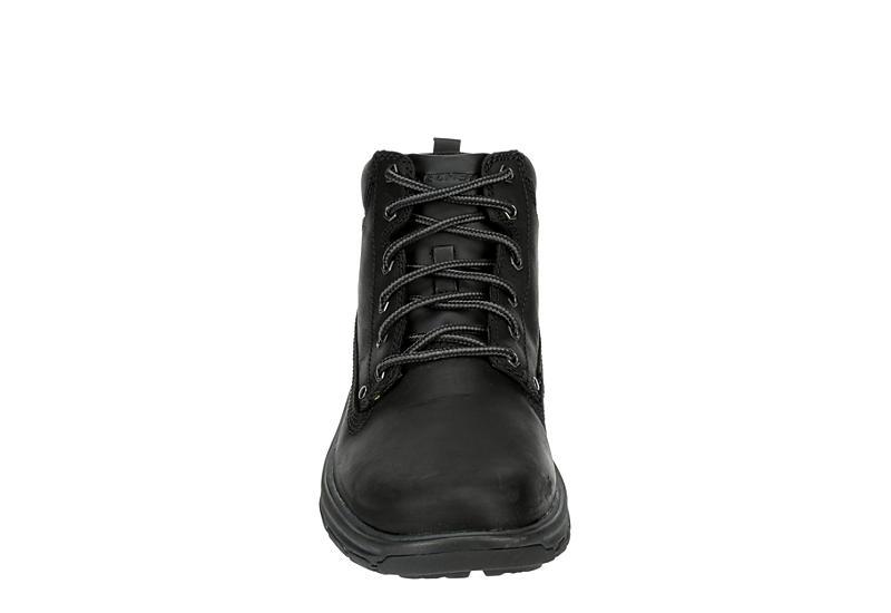 SKECHERS Mens Segment-garnet Relaxed Fit Memory Foam Hiking Boot - BLACK