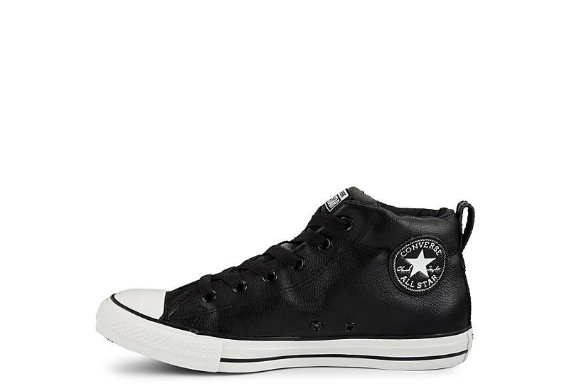 31ef99ff95b6 Converse Mens Chuck Taylor All Star Mid Street Sneaker - Black