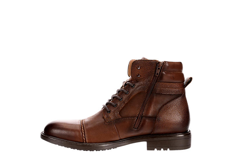 STEVE MADDEN Mens Ghazi Cap Toe Casual Boot - COGNAC