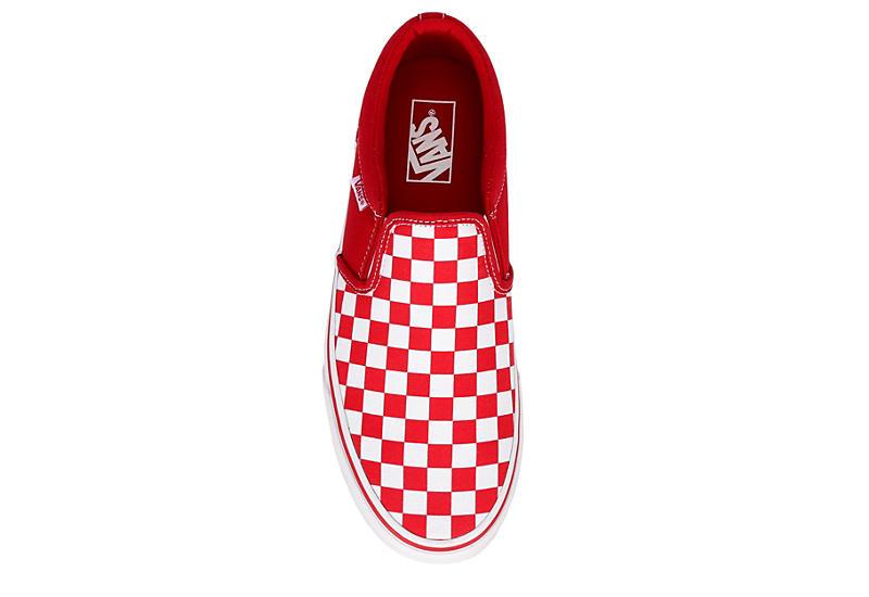 VANS Mens Asher Slip On Sneaker - RED