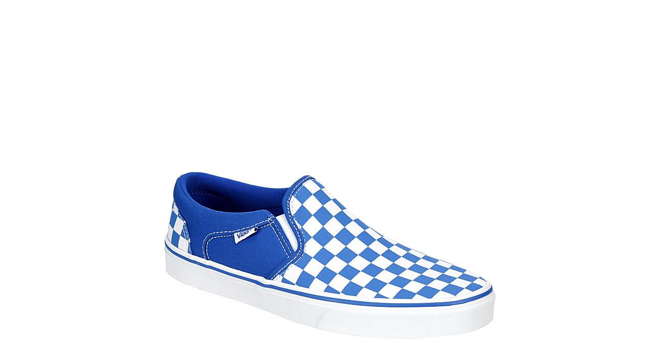 VANS Mens Asher Slip On Sneaker - BRIGHT BLUE