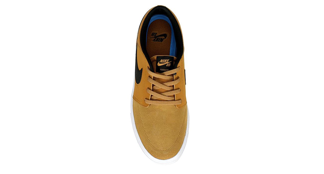 NIKE Mens Sb Portmore Solarsoft Sneaker - TAN