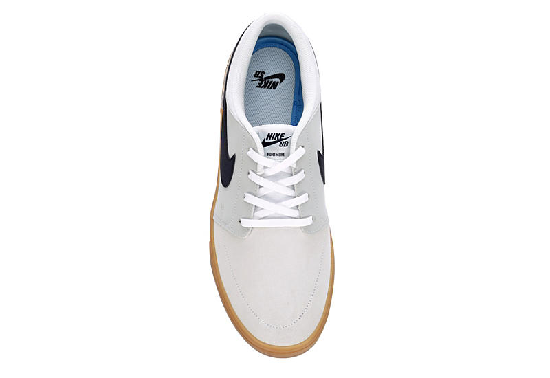 NIKE Mens Sb Portmore Solarsoft Sneaker - WHITE