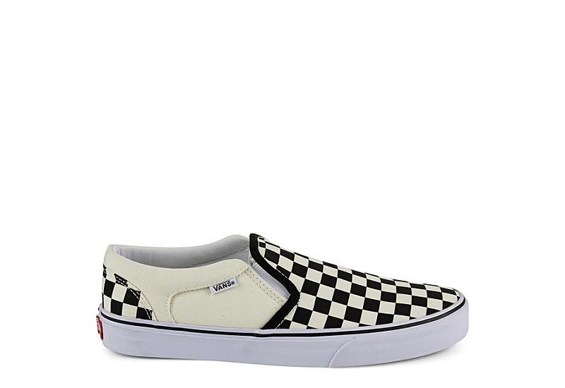 VANS Mens Asher Slip On Sneaker - OFF WHITE