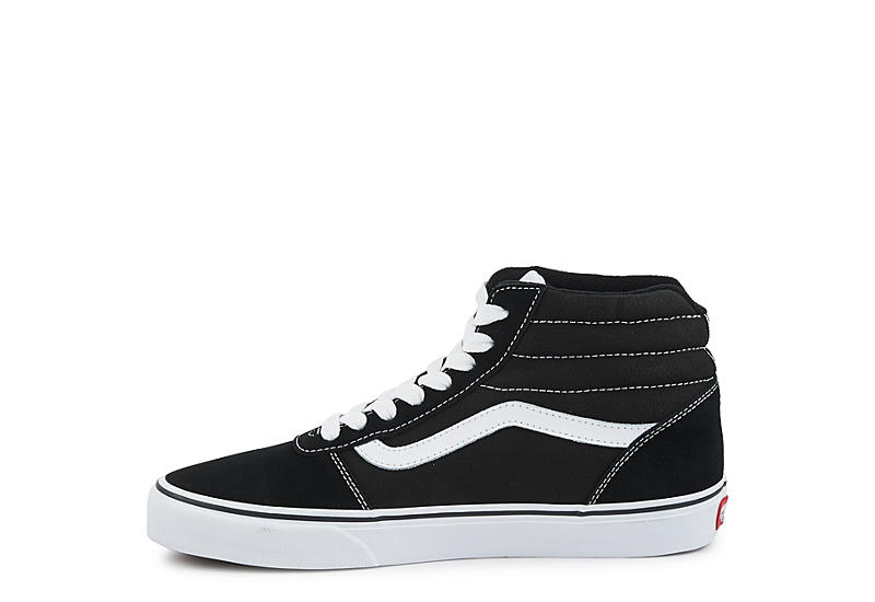 VANS Mens Ward High Top Sneaker - BLACK