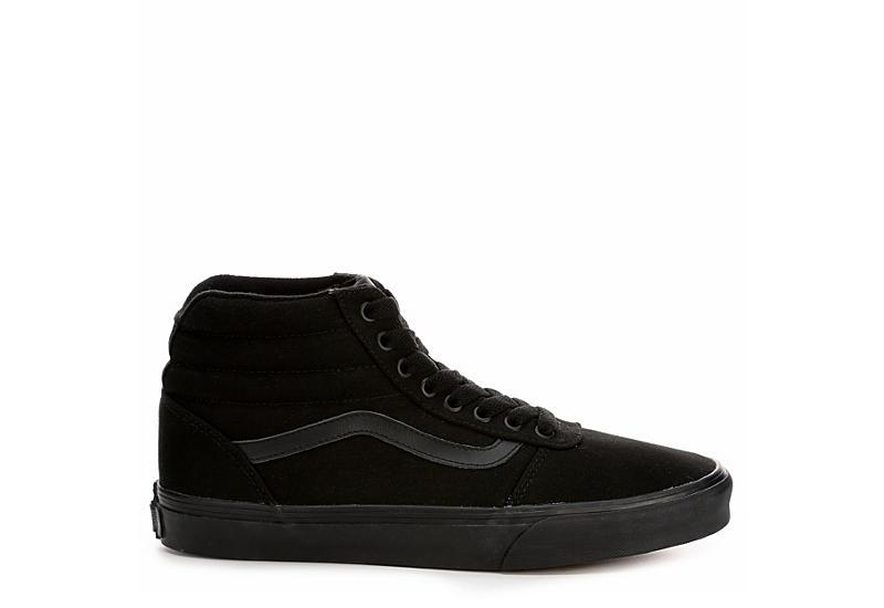 VANS Mens Ward High Top Sneaker - BLACK