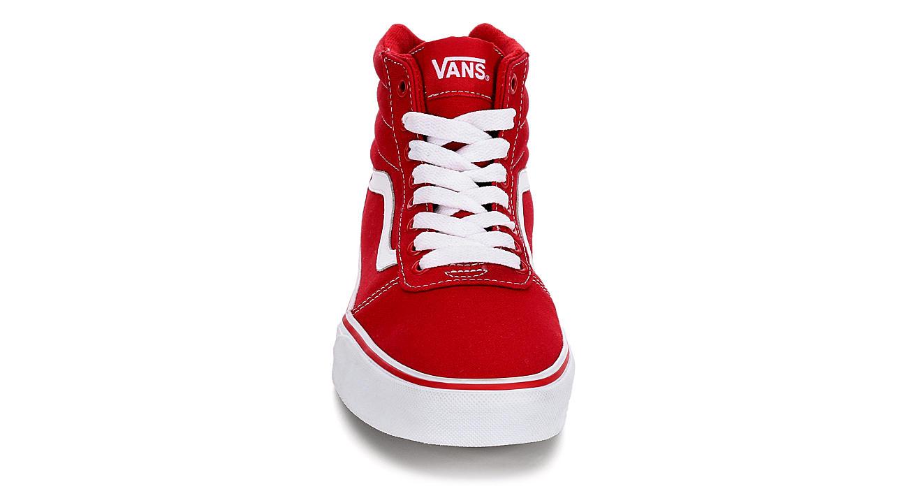 b4acfeca88ee Vans Mens Ward High Top Sneaker - Red