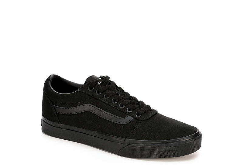 dd2d3cd6590246 All Black Vans Ward Men s Low Top Sneakers