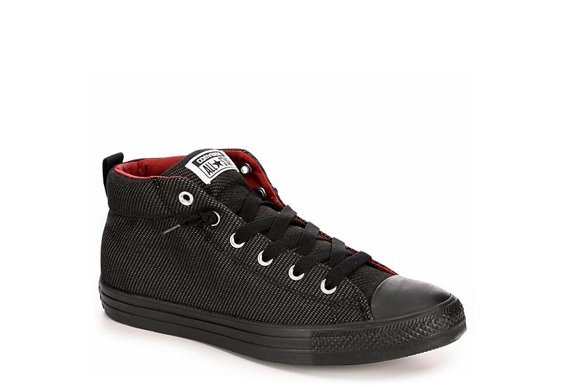 37c2a16a2c0e Black Converse Mens Chuck Taylor All Star Street Hi Tpu Sneaker ...