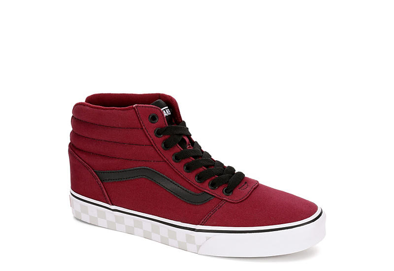 a6869e7ec4a69 Burgundy Vans Mens Ward High Top Sneaker