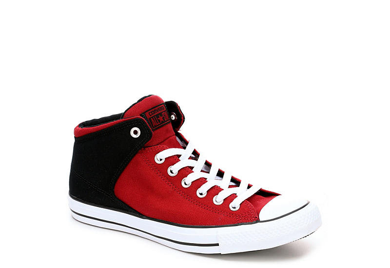 f7ccb242ef3a Red Converse Mens Chuck Taylor All Star High Street Sneaker ...
