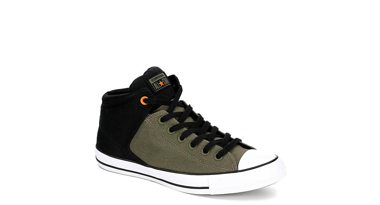CONVERSE Mens Chuck Taylor All Star High Street Hi Top Sneaker - OLIVE