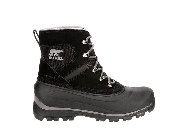 SOREL Mens Buxton Lace Waterproof Insulated Boot - BLACK