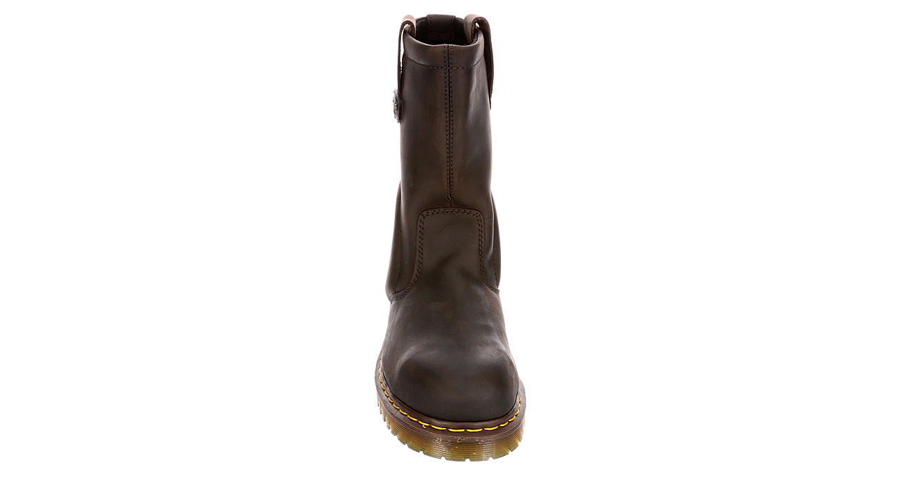DR.MARTENS Mens Icon 2295 Slip Resistant Pull On Work Boot - DARK TAN