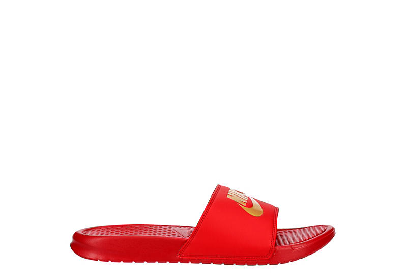 NIKE Mens Benassi Jdi Slide Sandal - RED