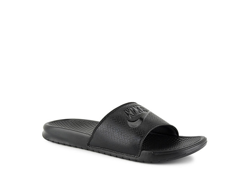 bc313f53f1e5 Nike Mens Benassi Just Do It Slide - Black
