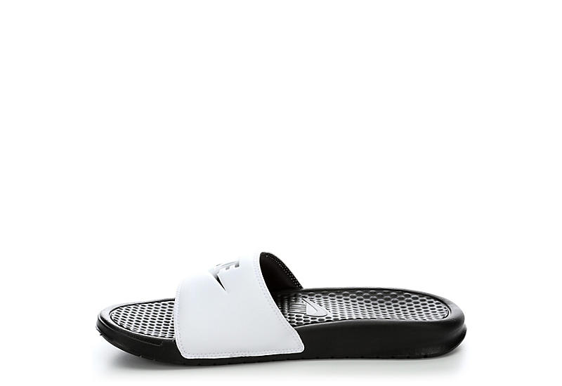 NIKE Mens Benassi Just Do It Sandal - WHITE