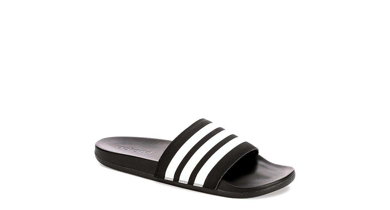 ADIDAS Mens Adilette Slide Sandal - BLACK