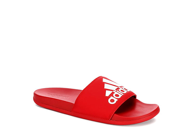 a2b64e3f2 All Red adidas Adilette Men s Slide Sandals