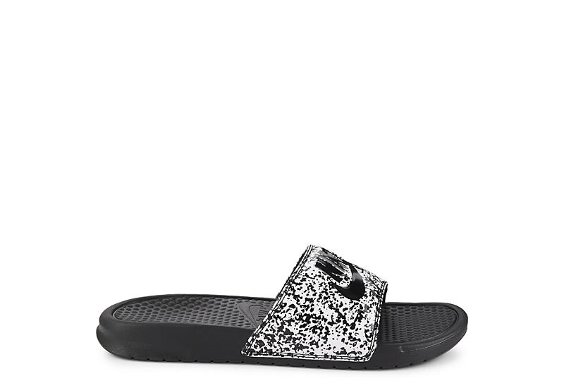NIKE Mens Benassi Just Do It Slide - WHITE