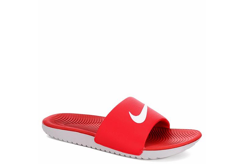 d876242cdf30ae Nike Mens Kawa Slide Sandal - Red