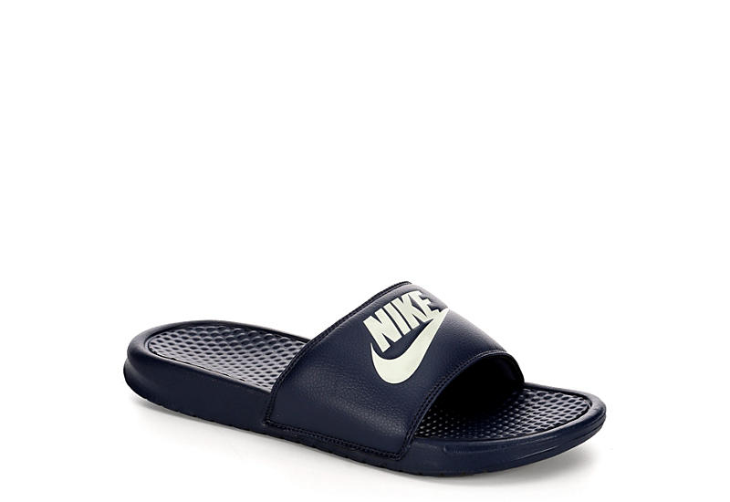 387a6cea2bc68e Navy Blue Nike Benassi Men s Slide Sandals