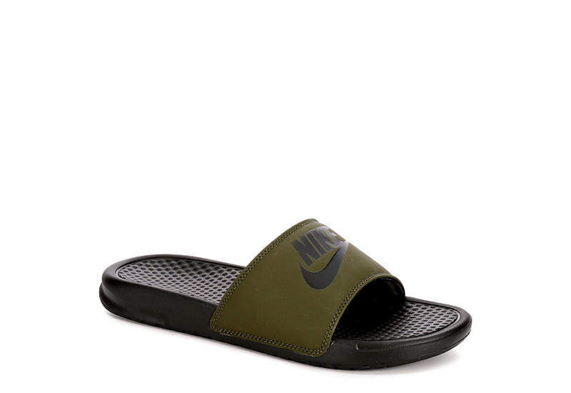 NIKE Mens Benassi Sandal - OLIVE