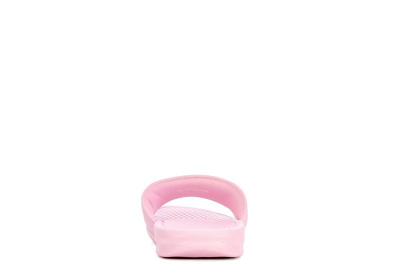 NIKE Womens Benassi Swoosh Slide Sandal - PINK