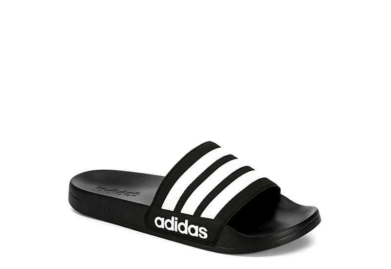 ADIDAS Mens Adilette Shower Slide Sandal - BLACK