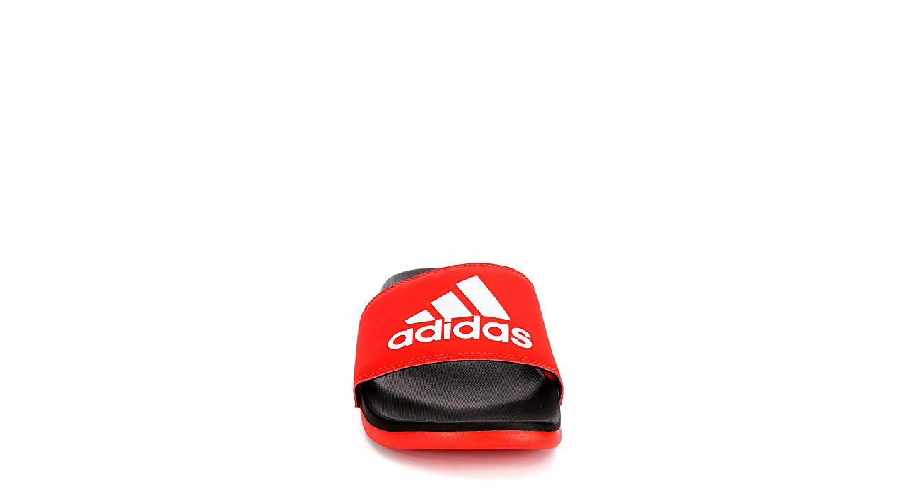 ADIDAS Mens Adilette Slide Sandal - RED