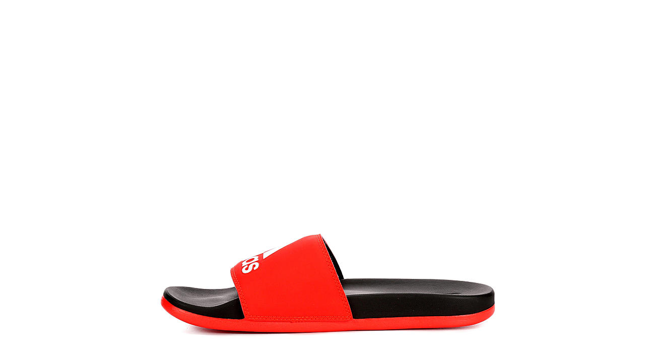 ADIDAS Mens Adilette Slide Sandal - RED