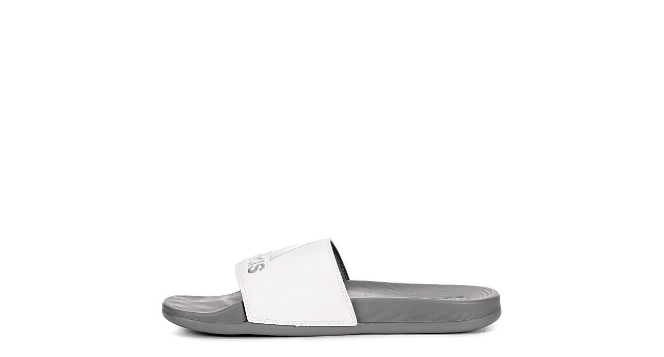 ADIDAS Mens Adilette Slide Sandal - GREY