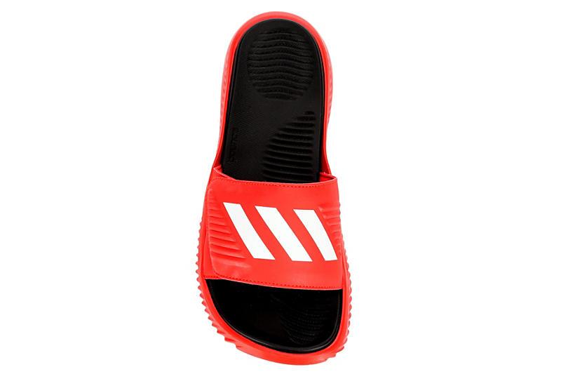 ADIDAS Mens Alphabounce Slide Sandal - RED