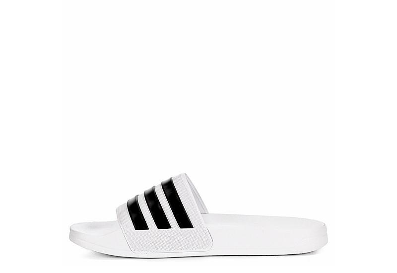 ADIDAS Mens Adilette Cloudfoam Slide Sandal - WHITE
