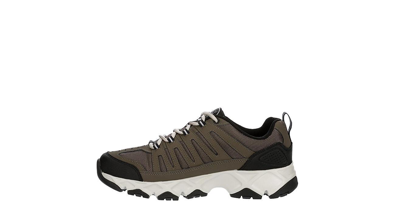 SKECHERS Mens Crossbar Stilholt Sneaker - BROWN