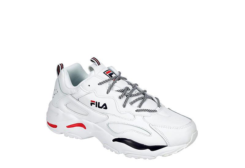 WHITE FILA Mens Ray Tracer Sneaker