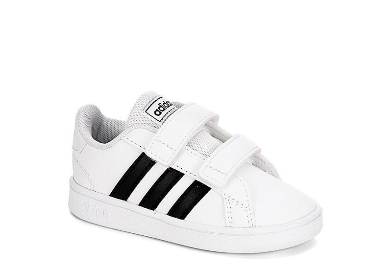 ADIDAS Boys Infant Grand Court Sneaker - WHITE